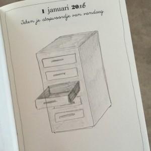 eerste tekening uit dagboek